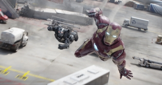 Marvel's Captain Marvel's Captain America: Civil War 2016: Civil WarL to R: War Machine/James Rhodes (Don Cheadle) and Iron Man/Tony Stark (Robert Downey Jr.)Photo Credit: Film Frame© Marvel 2016