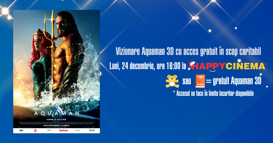 eveniment-caritabil-aquaman la happy cinema